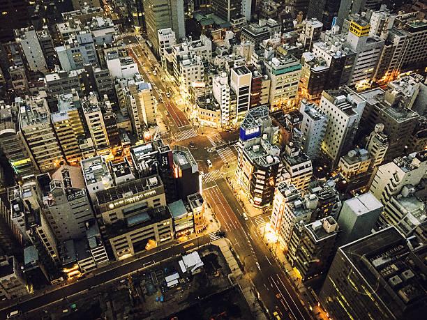 Tokyo Aerial View Street Wall Art