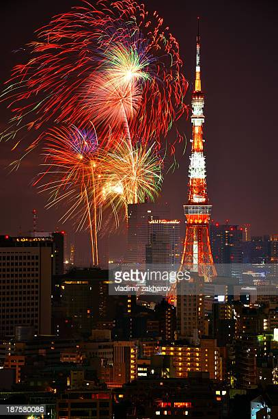 Tokyo and fireworks