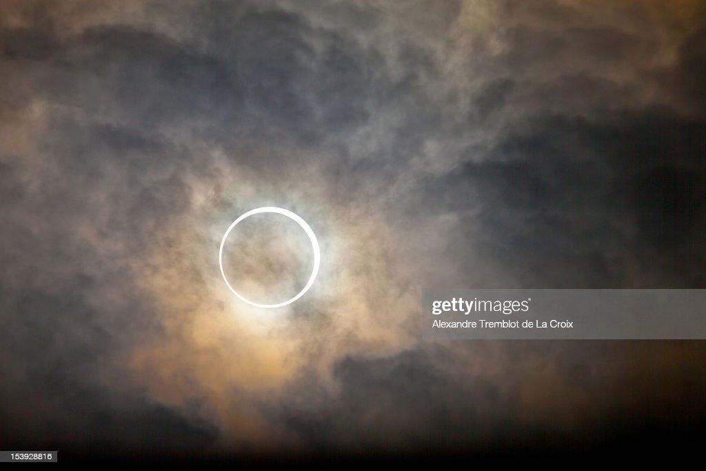 Tokyo annular solar eclipse 2012 : Stock Photo