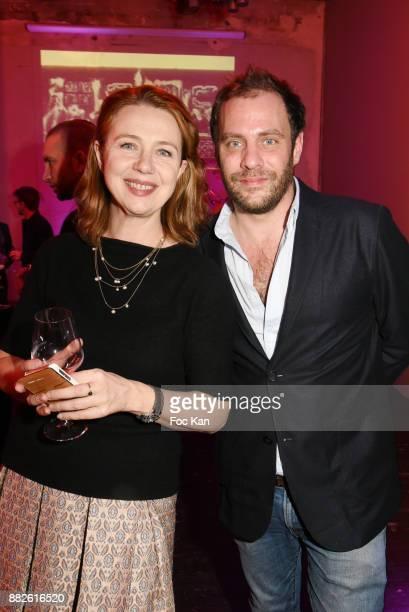 Tokyo Art Club director Katia Raymondaud and PR Juien Verry attend Nektart Wine Party at Palais de Tokyo Art Club on November 29 2017 in Paris France