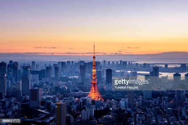 tokyo at dawn - tóquio - fotografias e filmes do acervo