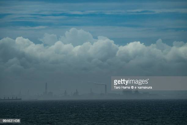 Tokyo Bay and factory in Kimitsu city in Chiba prefecture in Japan