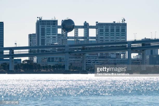 Tokyo Bay and Odaiba in Minato Ward of Tokyo in Japan