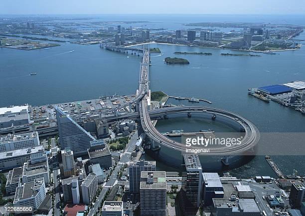 Tokyo Bay and Rainbow Bridge