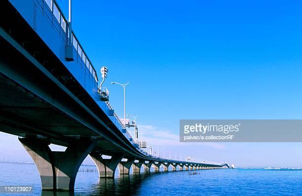 Tokyo Bay Aqua Line Bridge Architecture Sky Cloud
