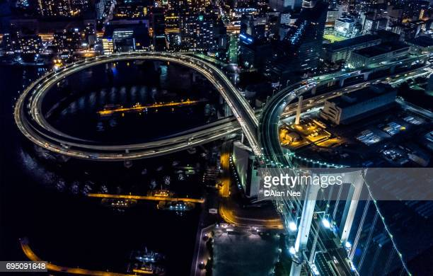 tokyo bay from the air - nee nee stock pictures, royalty-free photos & images
