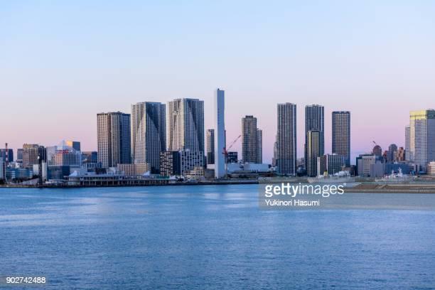 Tokyo Bay skyline at Twilight