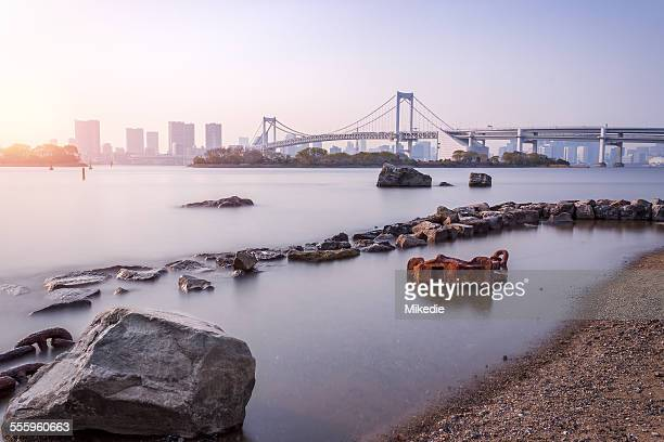 Tokyo bay with Rainbow bridge