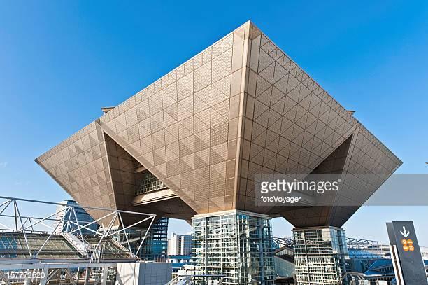tokyo big sight international exhibition center japan - tokyo big sight stock photos and pictures