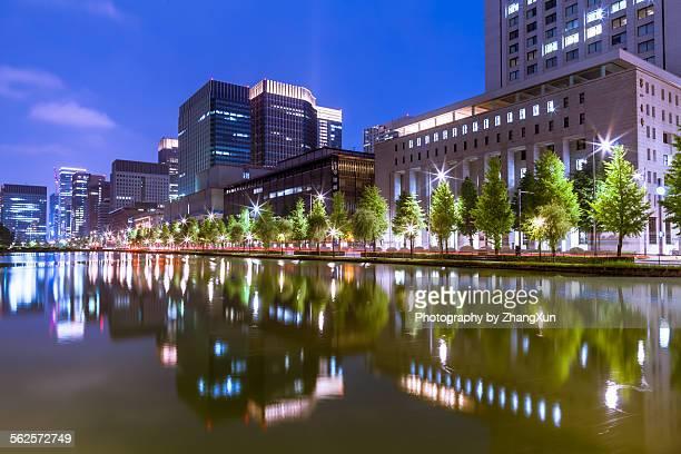 Tokyo city at night, Marunouchi