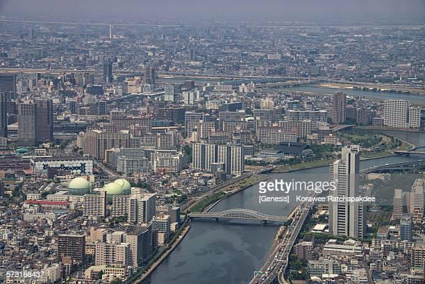 Tokyo city from Tokyo sky tree
