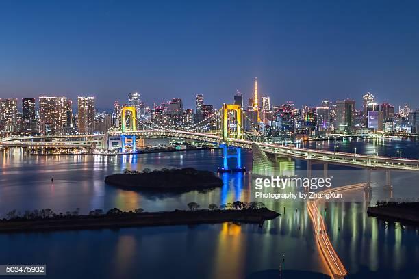 Tokyo City night view at Odaiba Tokyo bay