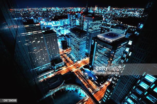 Tokyo city nightscape