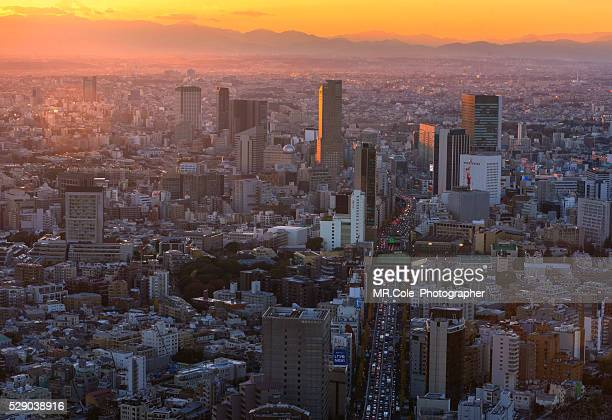 Tokyo city scape at sunset time