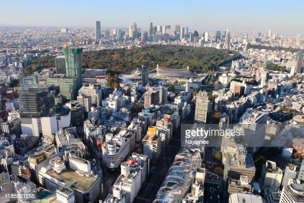 東京シティスクレーパー - 代々木 ストックフォトと画像