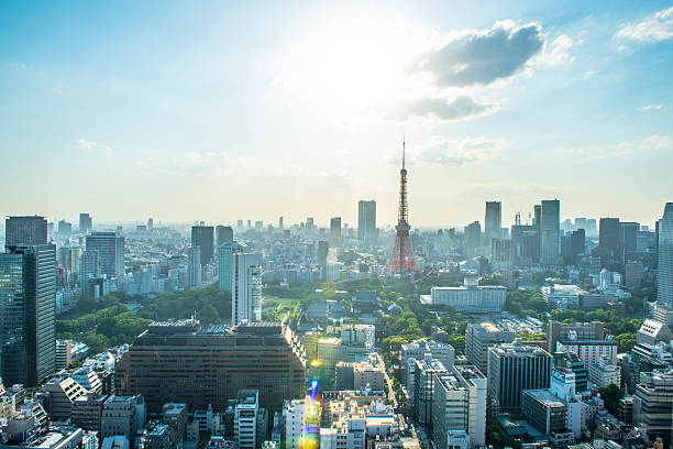 Tokyo City Skyline Wall Art