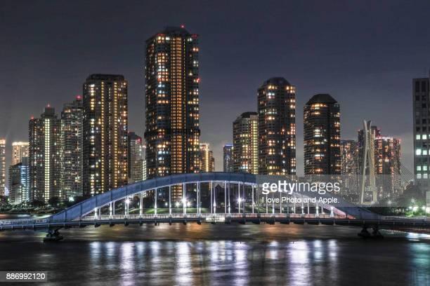 tokyo city view - 永代橋 ストックフォトと画像