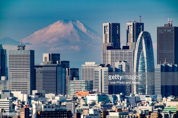 tokyo city view - nishi shinjuku stock-fotos und bilder