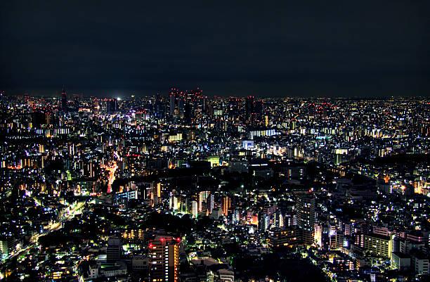 Tokyo Cityscape At Night, Ikebukuro Wall Art