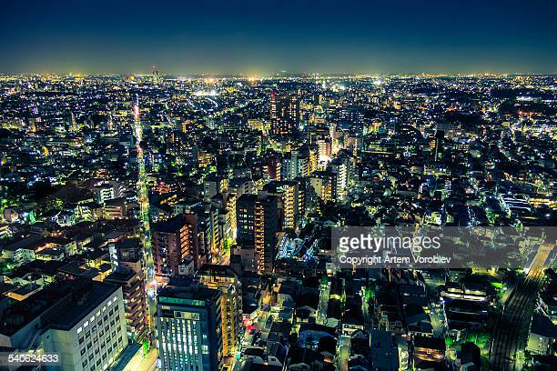 Tokyo cityscape at night.