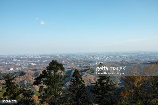 tokyo cityscape from takao - hachioji stock pictures, royalty-free photos & images