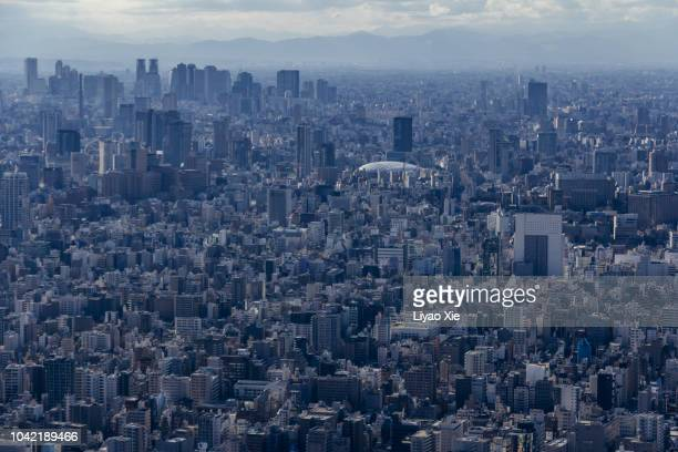 tokyo cityscape - liyao xie stock pictures, royalty-free photos & images