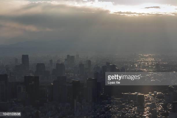 tokyo cityscape - liyao xie foto e immagini stock