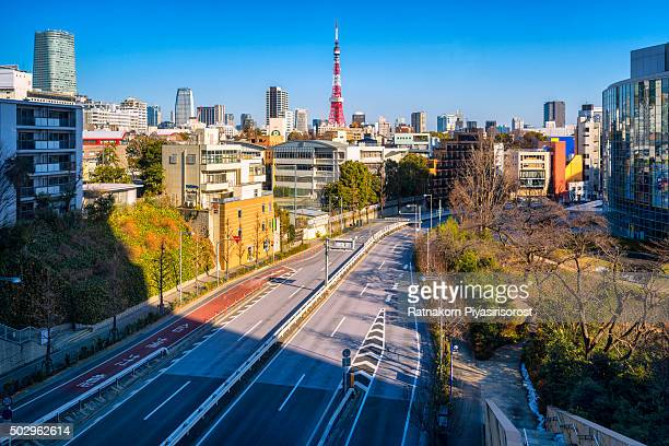 tokyo cityscape - roppongi hills stock pictures, royalty-free photos & images