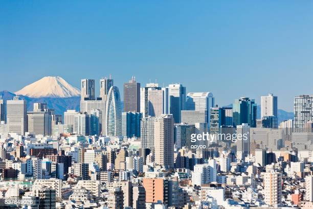 Tokyo Cityscape With Clear Blue Sky