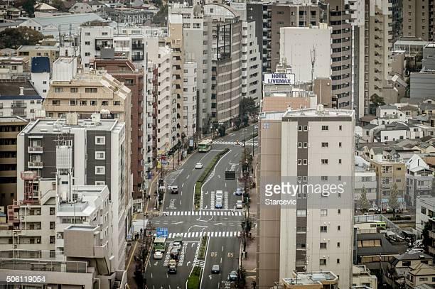 東京の街、オフィスや住宅建物