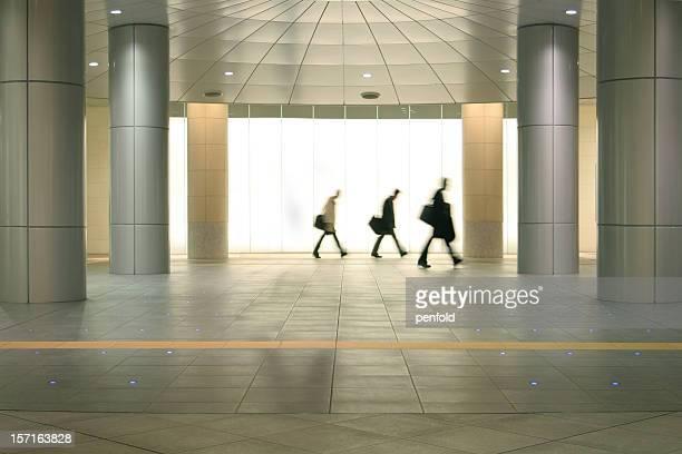 東京の通勤者