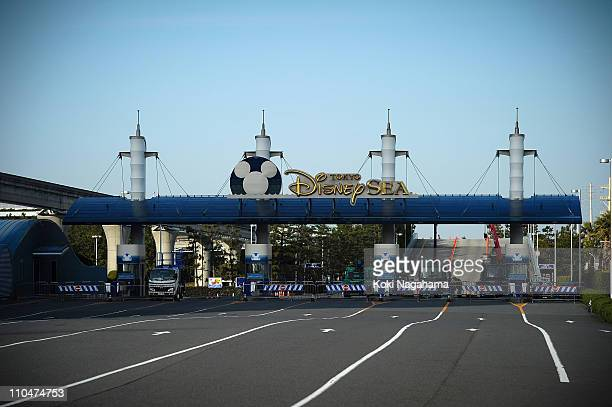 Tokyo Disneyland has been closed due to the liquefaction triggered by the 90 magnitude earthquake on March 19 2011 in Urayasu Chiba Japan The...