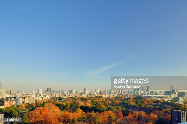 tokyo downtown skyline - chofu stock pictures, royalty-free photos & images