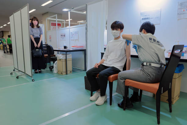 JPN: Covid-19 Vaccinations at a University Campus in Tokyo