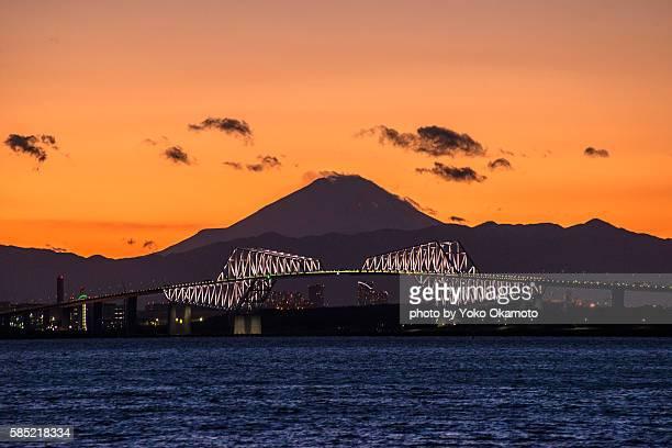 Tokyo gate bridge and Mt Fuji