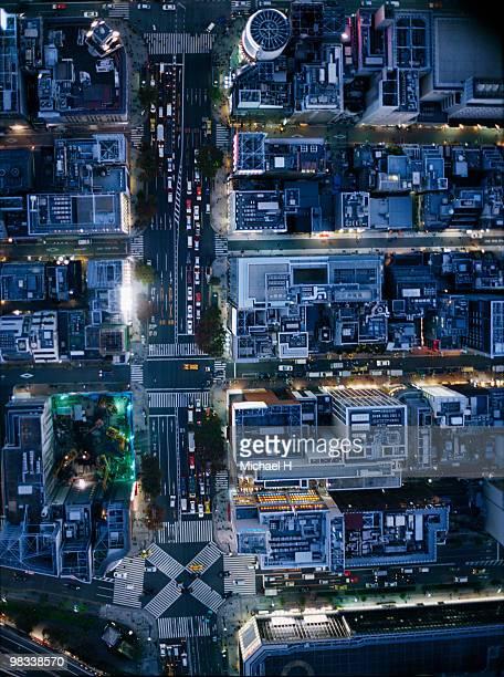Tokyo Ginza aerophotograph