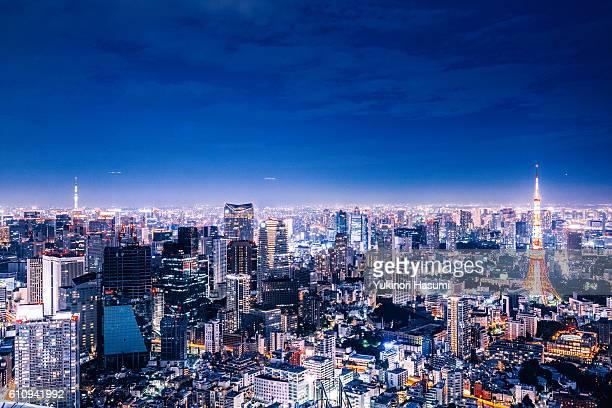 tokyo gorgeous lights - 夜 ストックフォトと画像