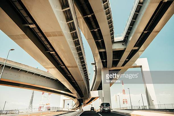 tokyo highway - integrated stock pictures, royalty-free photos & images