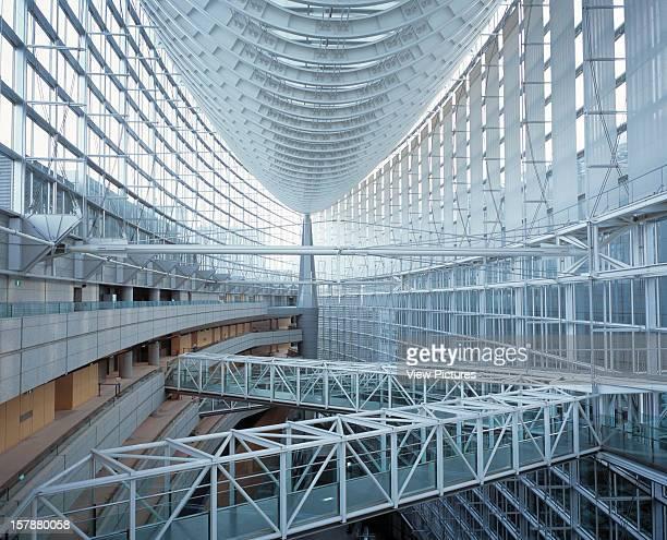 Tokyo International Forum Tokyo Japan Architect Rafael Vinoly Architects Tokyo International Forum Hull Shaped Ceiling And Walkways