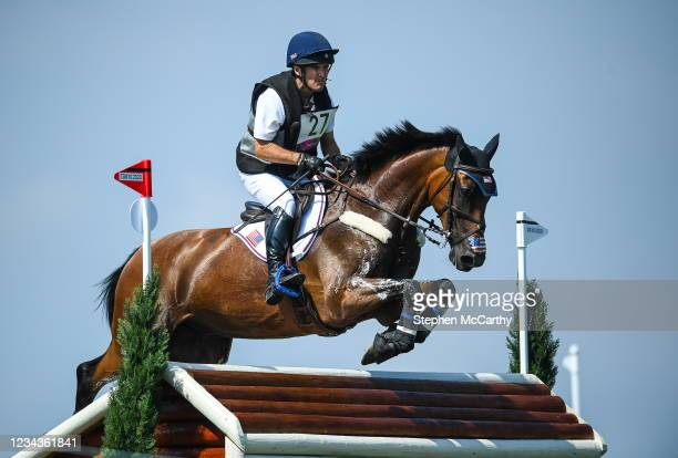 Tokyo , Japan - 1 August 2021; Phillip Dutton of USA riding Z during the eventing cross country team and individual session at the Sea Forest...