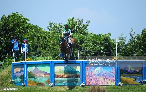 Tokyo , Japan - 1 August 2021; Sarah Ennis of Ireland riding Horseware Woodcourt Garrison during the eventing cross country team and individual...