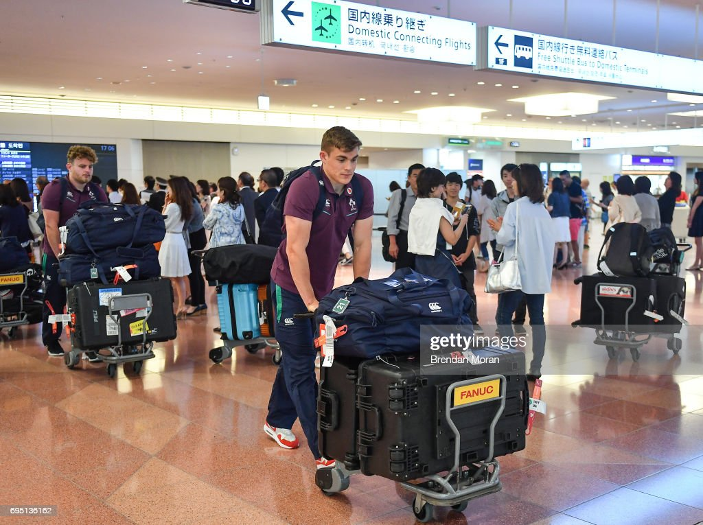 Tokyo , Japan - 12 June 2017; Garry Ringrose of Ireland on arrival into Haneda Airport in Tokyo, Japan, ahead of their 2 test matches against Japan.