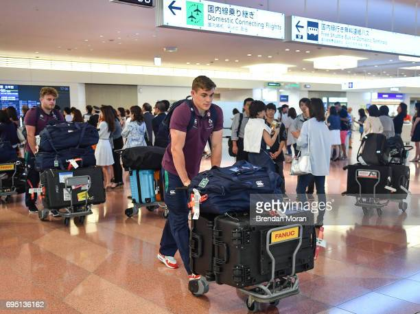 Tokyo Japan 12 June 2017 Garry Ringrose of Ireland on arrival into Haneda Airport in Tokyo Japan ahead of their 2 test matches against Japan