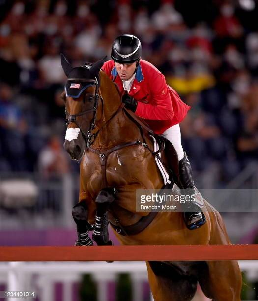 Tokyo , Japan - 2 August 2021; Phillip Dutton of USA riding Z during the eventing jumping individual final at the Equestrian Park during the 2020...