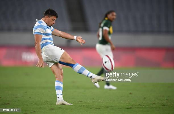 Tokyo , Japan - 27 July 2021; Lautaro Bazan Belez of Argentina during the Men's Rugby Sevens quarter-final match between South Africa and Argentina...