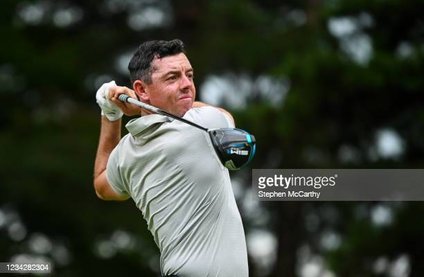 Tokyo , Japan - 29 July 2021; Rory McIlroy of Ireland watches his drive from the 13th tee box during round 1 of the men's individual stroke play at...