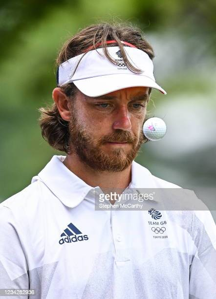 Tokyo , Japan - 29 July 2021; Tommy Fleetwood of Great Britain during round 1 of the men's individual stroke play at the Kasumigaseki Country Club...