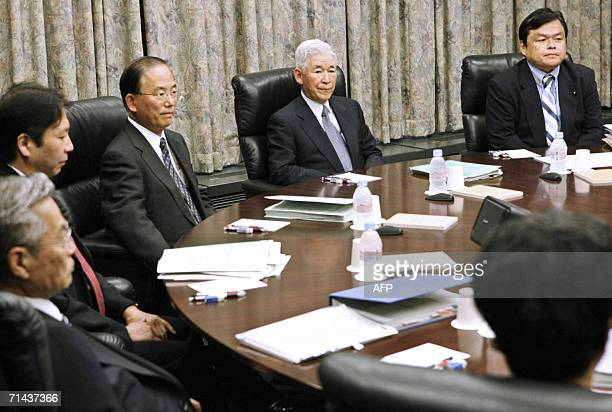 Bank of Japan Governor Toshihiko Fukui presides the bank's monetary policy board meeting at the BOJ headquarters in Tokyo 14 July 2006 The central...