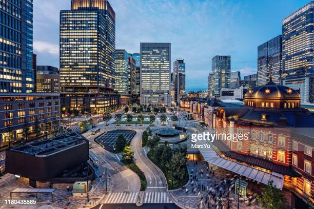 tokyo, japan cityscape at tokyo station - この撮影のクリップをもっと見る 2025 stock pictures, royalty-free photos & images