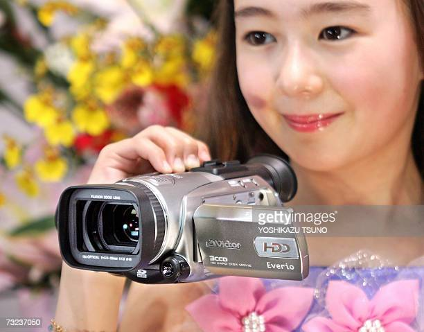 Electronics giant Victor Company of Japan unveils the world's first full highdefinition quality digital video camcorder Everio GZHD7 equipped with...